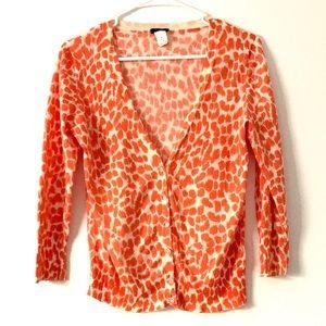 J Crew Orange cheetah print cardigan 🧡